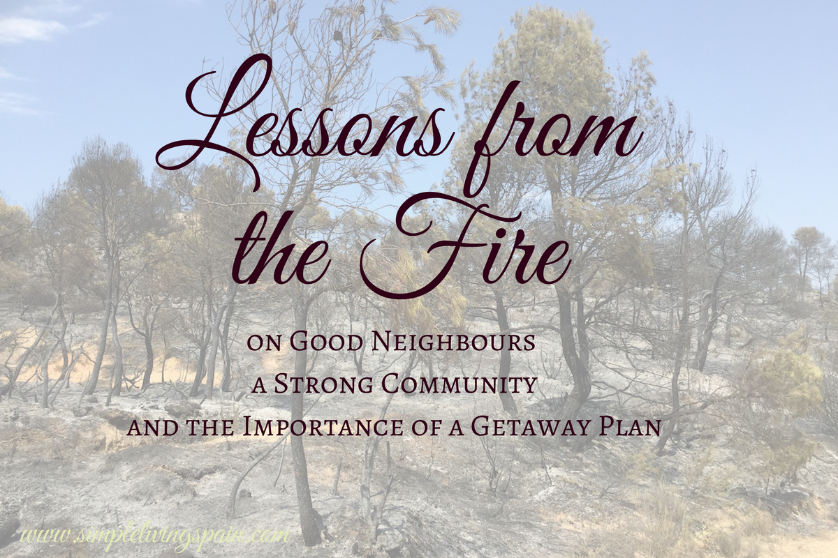 What we learned from an emergency evacuation - the importance of good friends, a strong community and a sound getaway plan