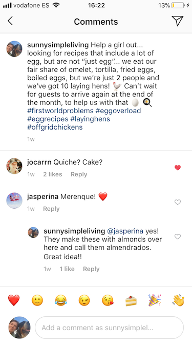 Looking for egg recipes on Instagram...