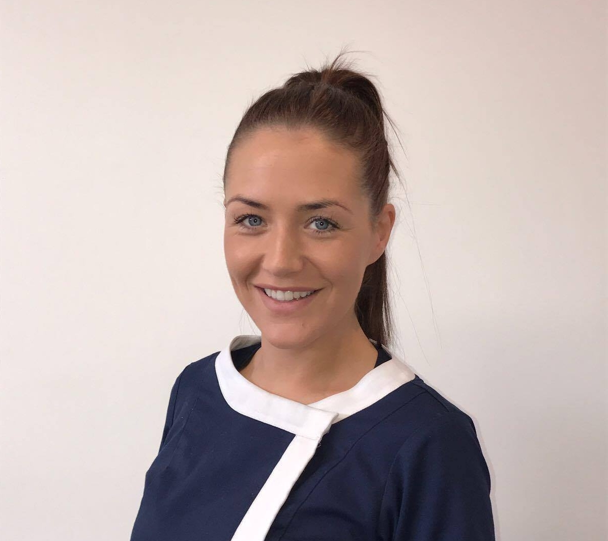 Nicole Donughue- Dental Nurse   Nicole is one of our lovely dental nurses. She studied dental nursing in Marino College Dublin. She really enjoys meeting new patients and will no doubt make you feel welcome and at ease during your visit. Nicole has plans to further her career on and become a dental  hygienist here at kbm dental.