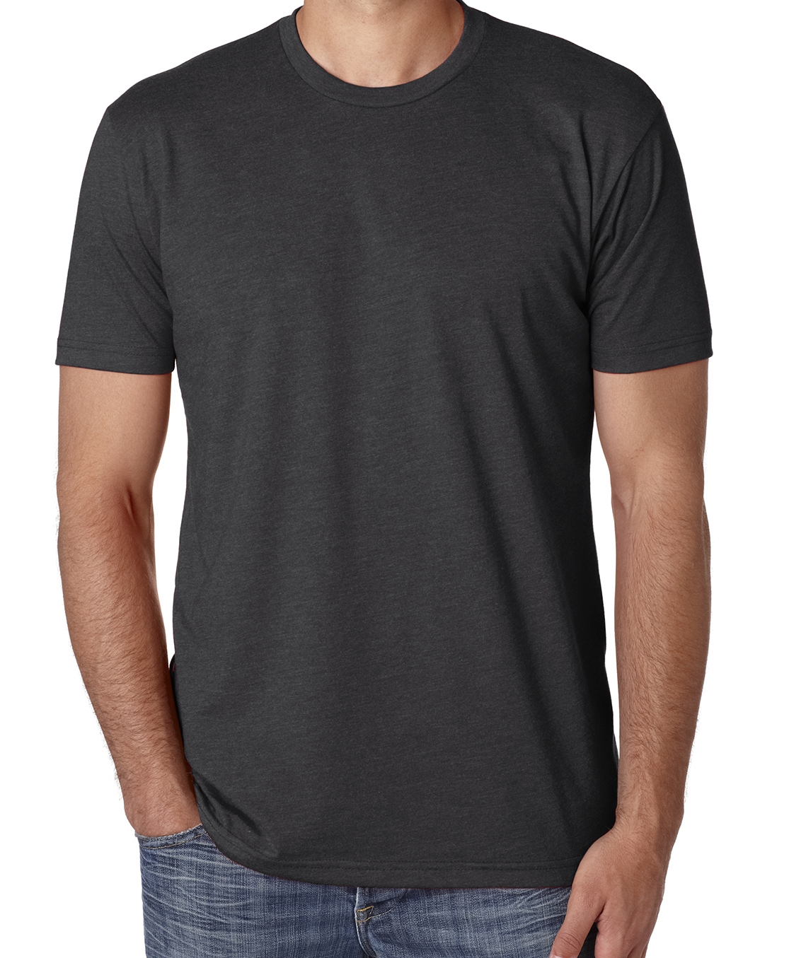 Unisex CVC crew neck t-shirt (cotton polyester blend, great fit, very soft, $$).