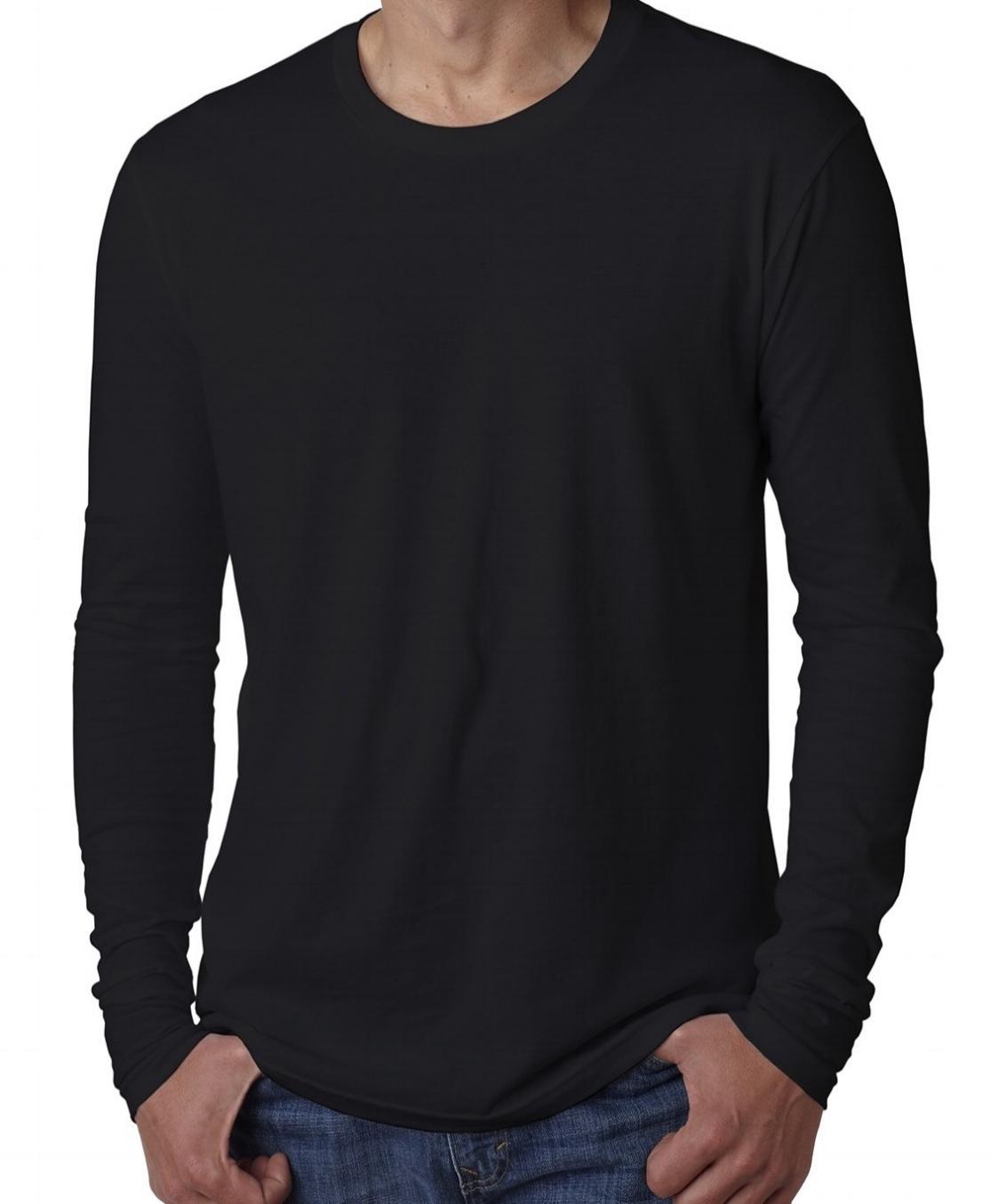 Unisex cotton long-sleeve crew neck (100% cotton, longer length, $$).