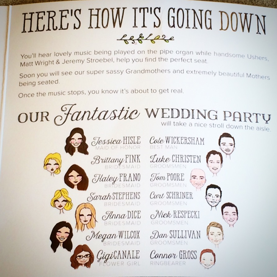 Trumble Wedding Program