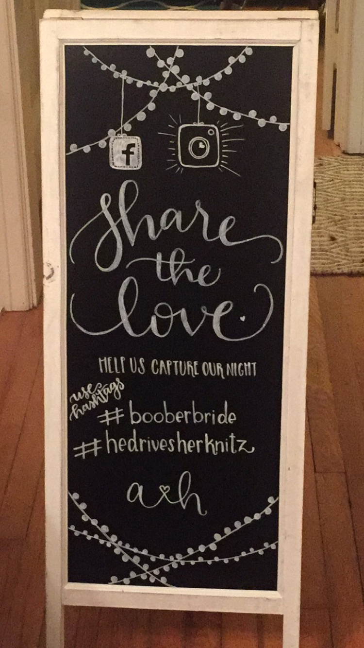 Knitz Wedding Chalkboard