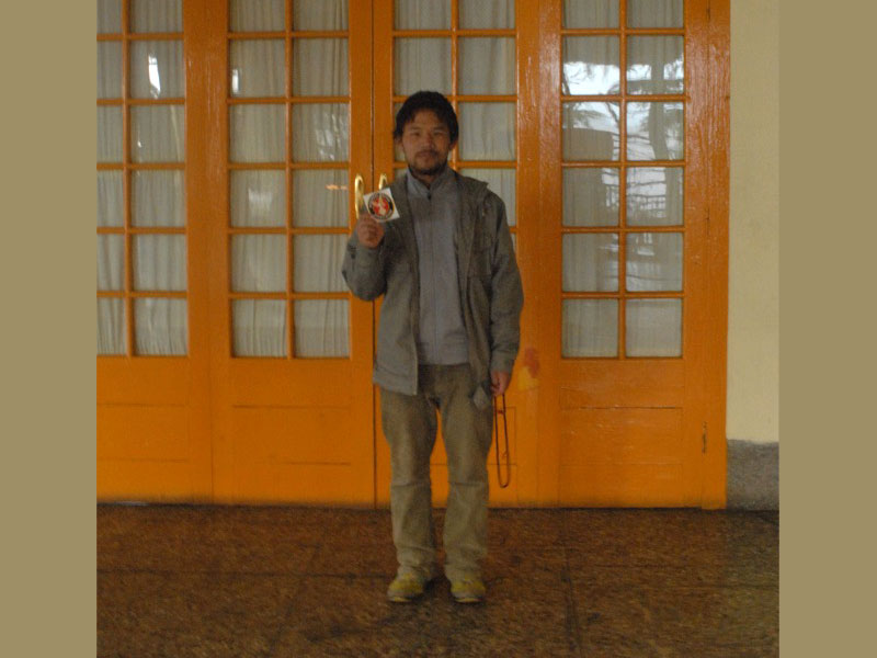 This photo was taken in a community in India called Dharamsala where the Tibetan Government is in exile. The man pictured here is a local denizen and was very happy to help document the farthest that the NWA has yet travelled on the planet!