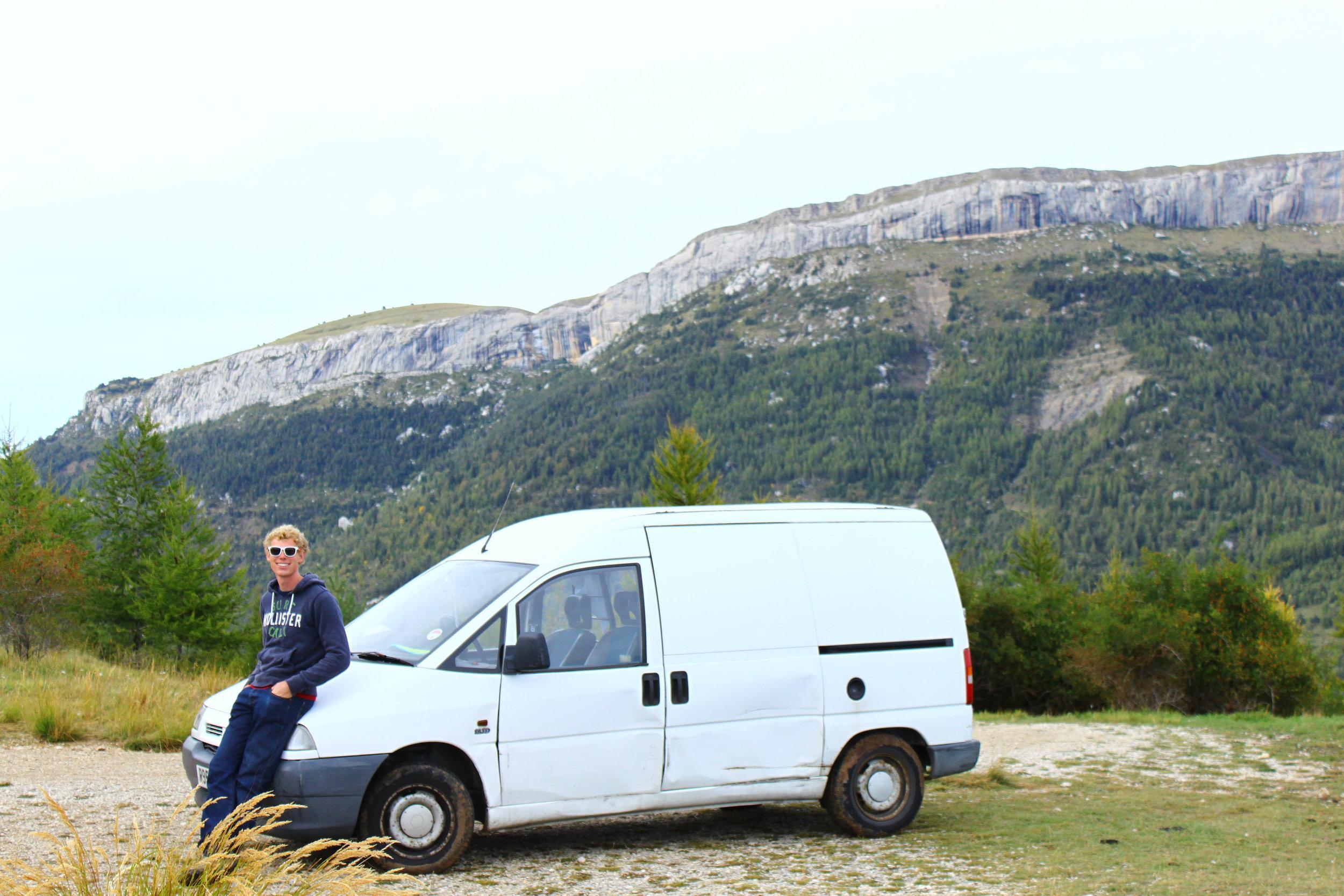 The van and Ceuse. Photo: Rachel Slater