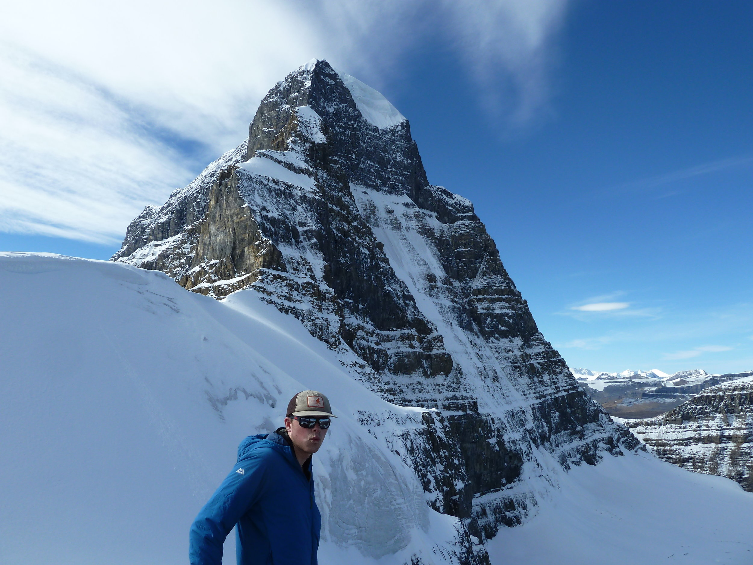 The north face of Mt. Alberta, and a Scotsman.