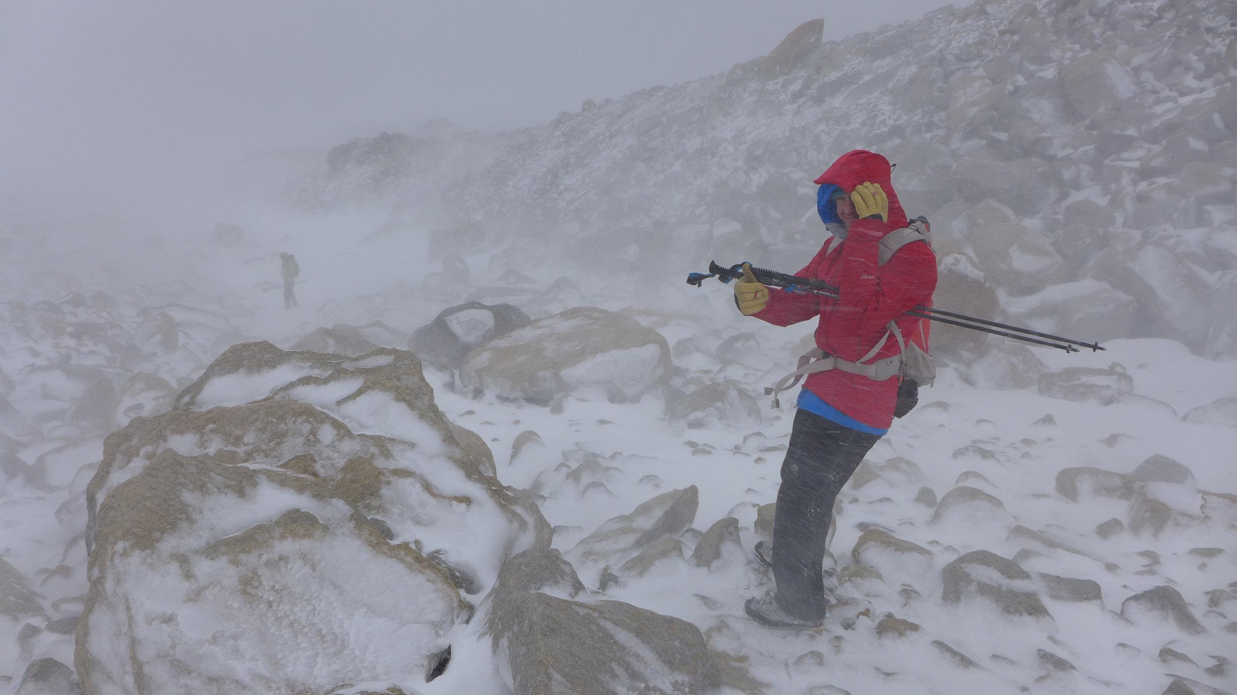 Tony and I enjoying the fine Patagonian weather. Photo: Calum Muskett