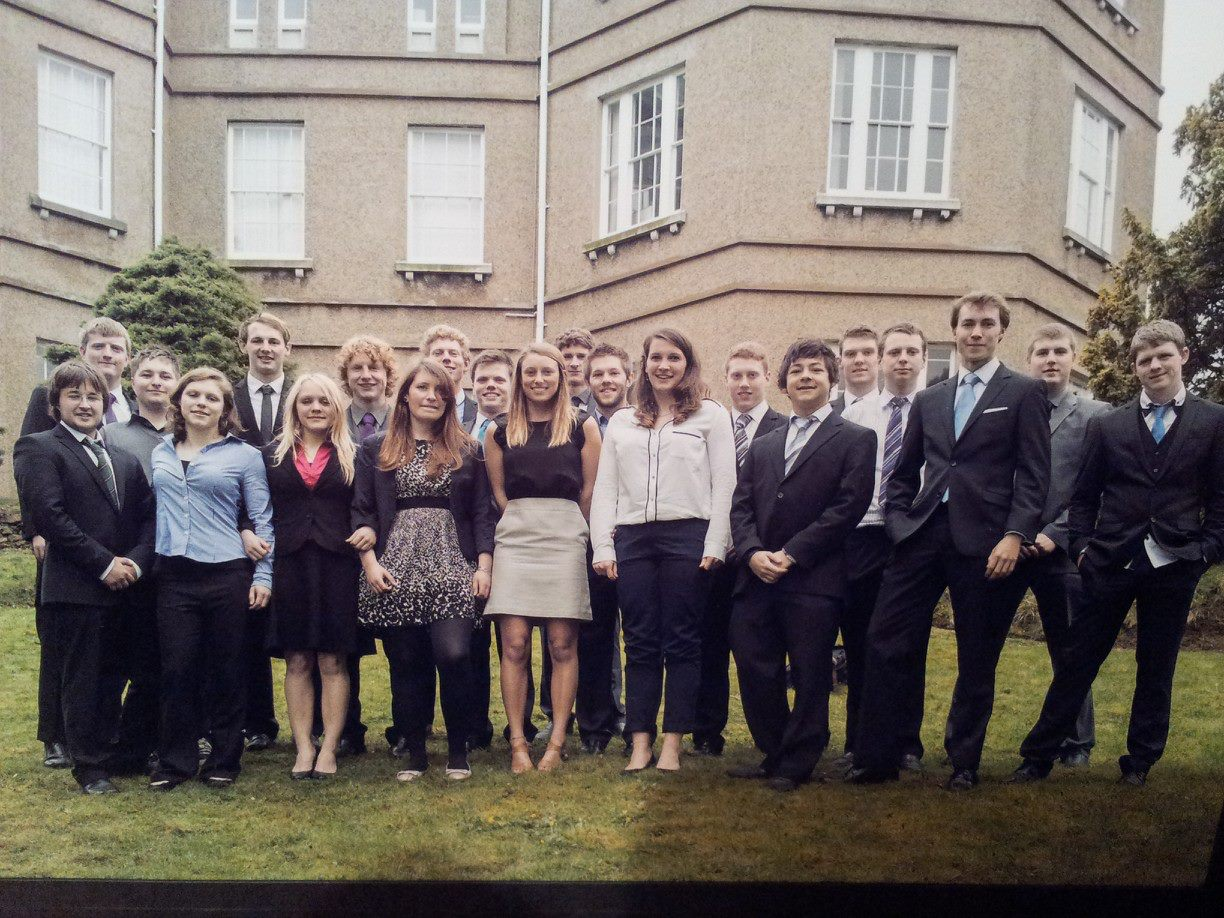 The Bangor University 'Sports Science and Outdoor Activities' class of 2013.