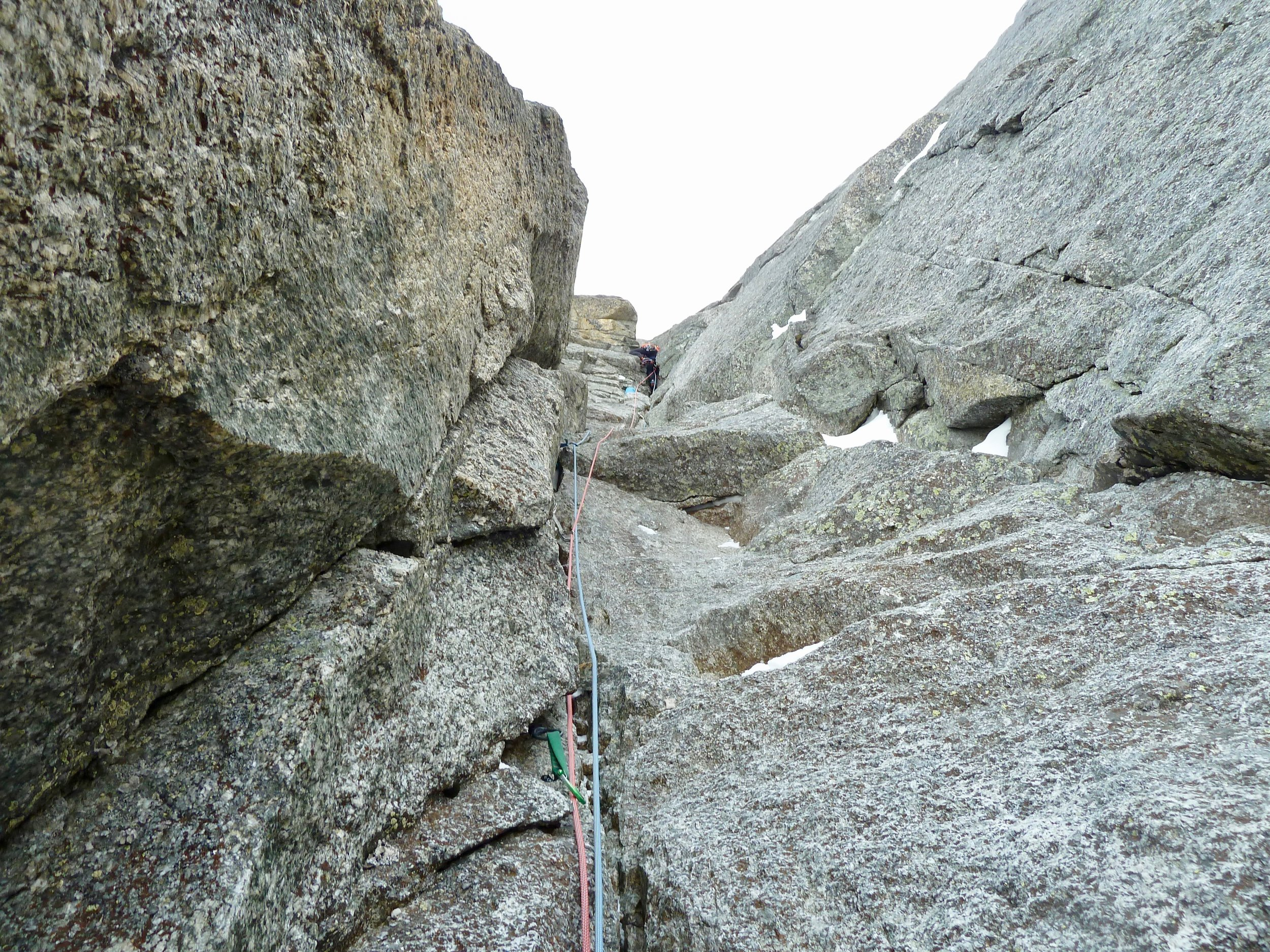 kim on the second crux