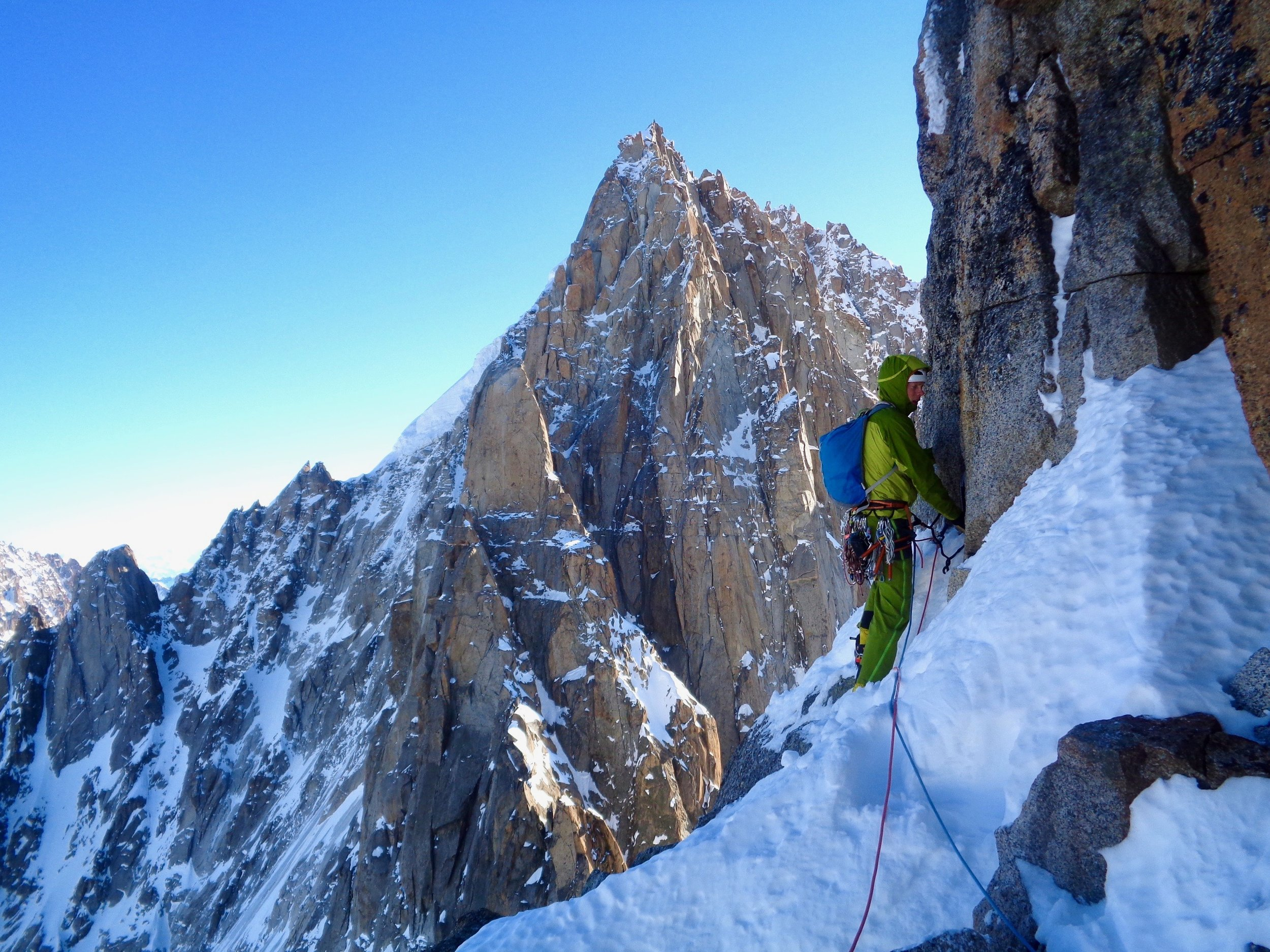 leseuer route, le dru. chamonix. photo: kim ladiges