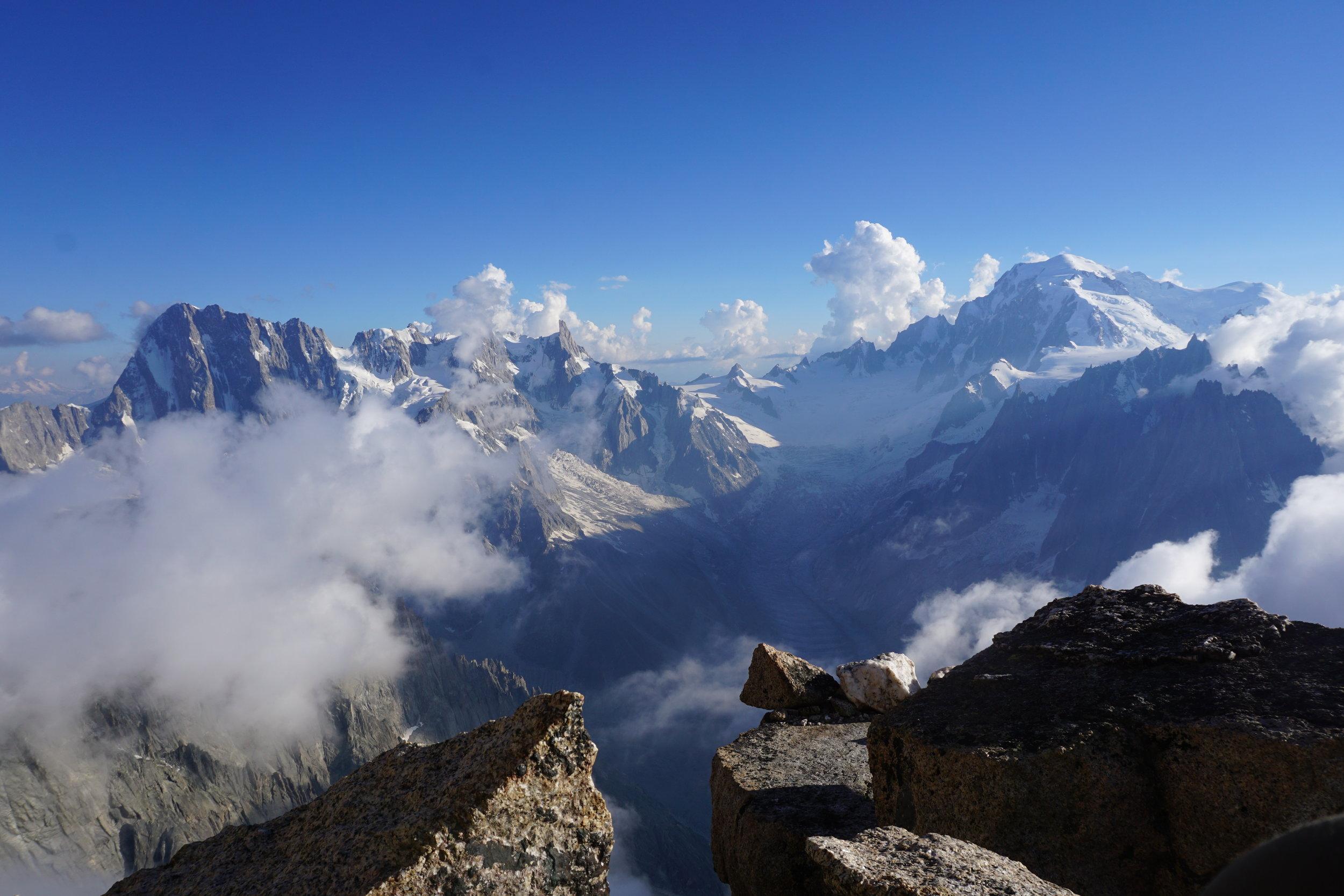 the mont blanc massif. chamonix. photo: uisdean hawthorn