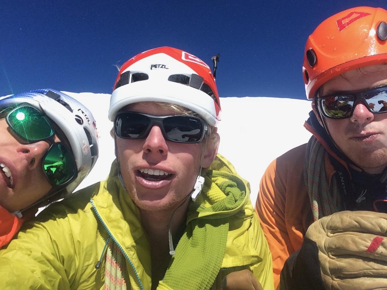 summit of mont blanc after divine providence. chamonix