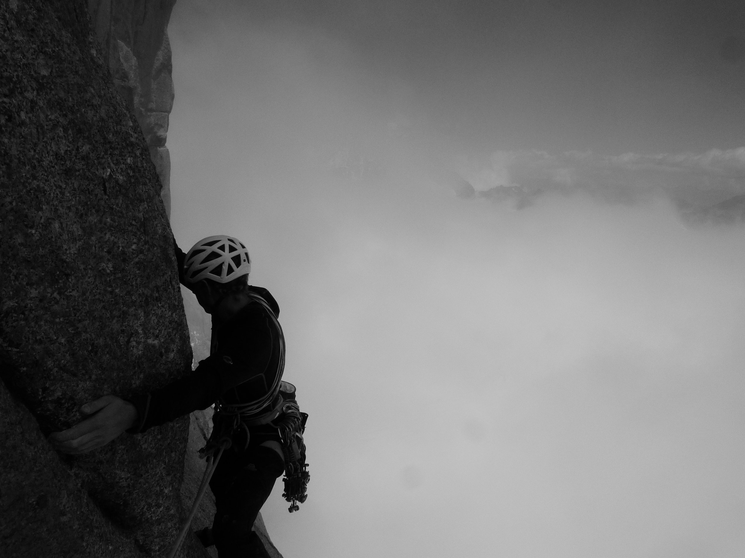 gulliver's travels, grand capucin, mont blanc massif. chamonix. photo: tony stone