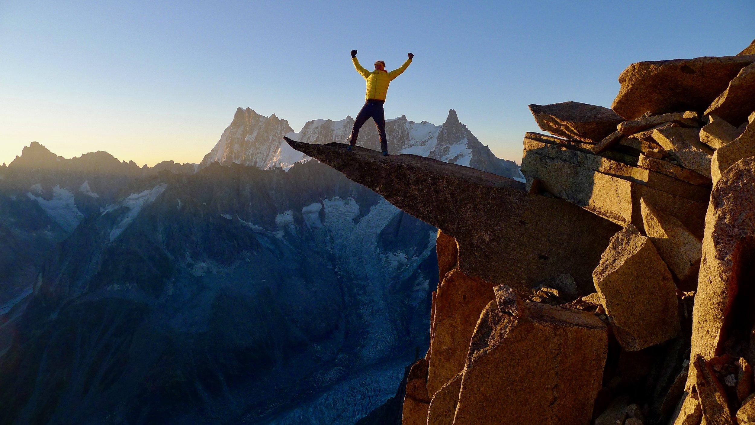 aiguille du fou, chamonix. mont blanc massif. photo: tony stone