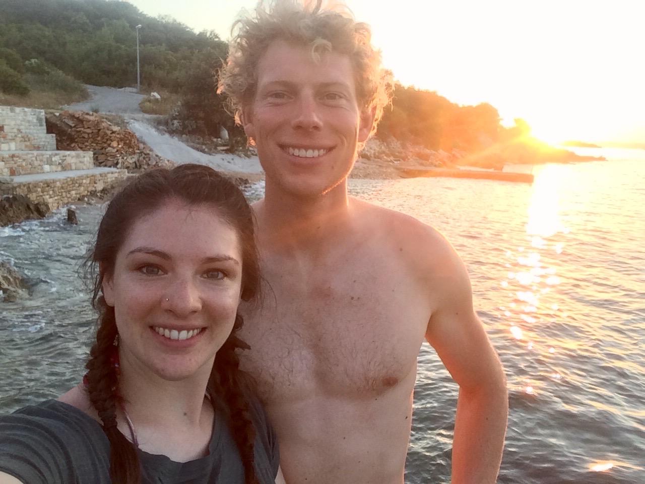 On the island of Korcula, Croatia, with Vic.