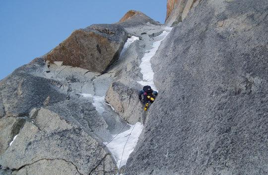 Marko Lukić in the Alps. Photo: Tomaz Jakofcic