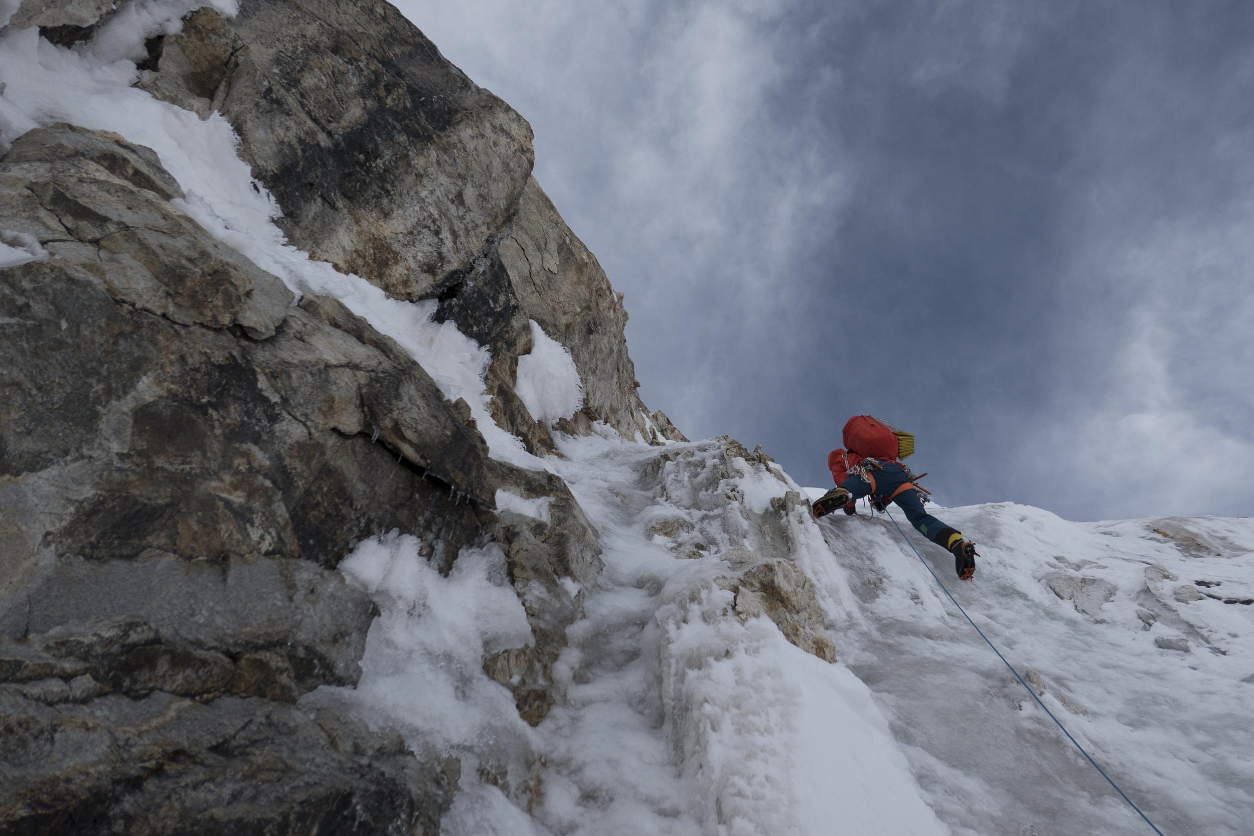Day 3, North Ridge Variation, Latok 1, Karakoram. Pakistan. Photo: Luka Strazar