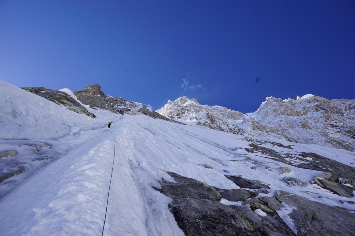 Day 1, North Ridge Variation, Latok 1, Karakoram. Pakistan.