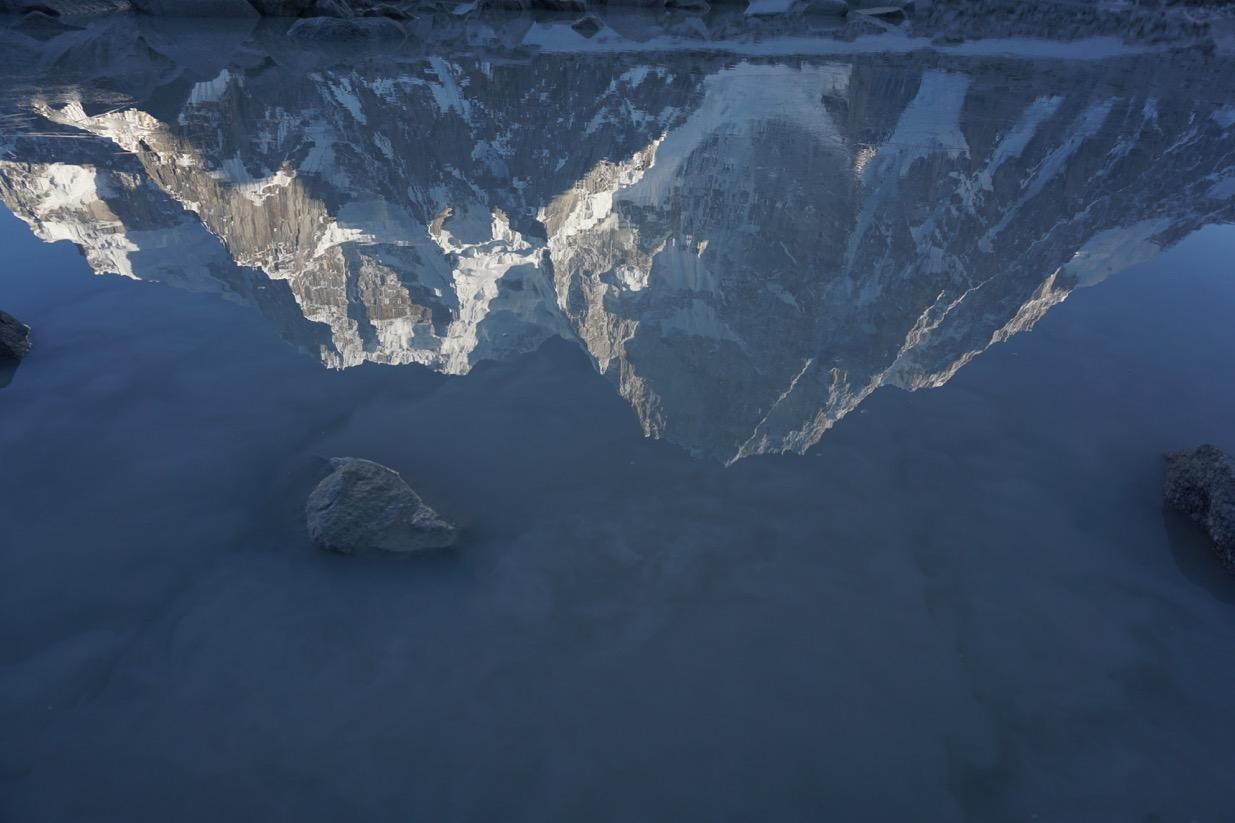 Latok I and III reflection. Karakoram. Pakistan.