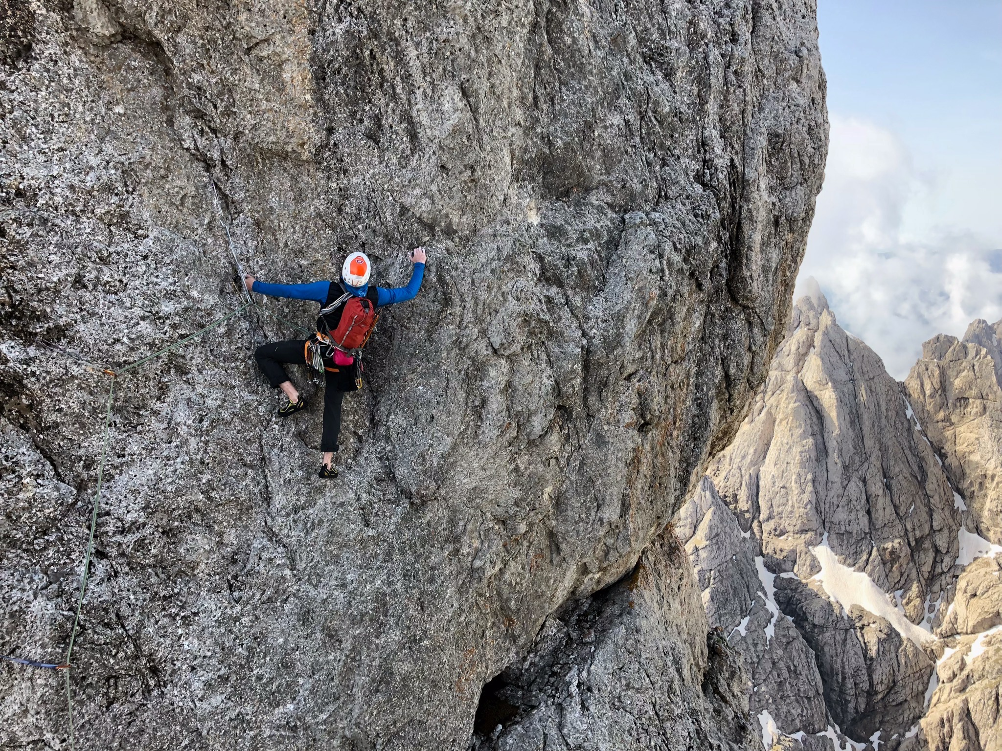 Quality routes in a spectacular position: Pala di San Martino lives up to it's reputation. Photo: Marko Prezelj