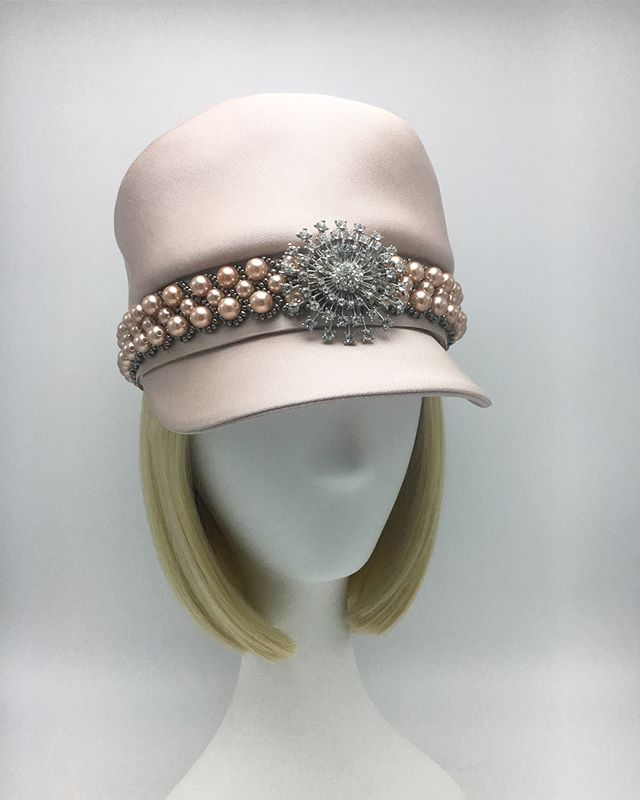 When you look like a million bucks 💵✨💵 ✨💵 💕 . . .  #custommillinery #madeinbrooklyn #couturemillinery #madeinnyc #millinery #customcaps #chanelcap #hats #fancycaps