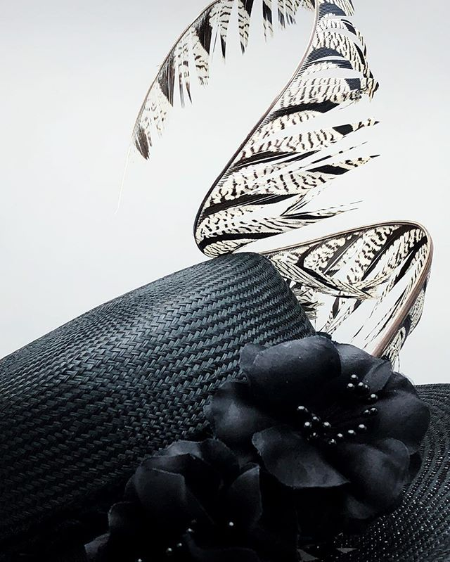 #rochamillinery #madeinnyc #madeinbrooklyn #millinery #couturemillinery #fascinators #derbyhats #customhats #pheasantfeathers #couturehats #fabricflowers