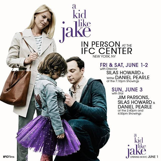 Go check out @akidlikejakefilm out now at IFC in #NYC .. Such a great movie !! || @clairedanes @therealjimparsons directed by @silash