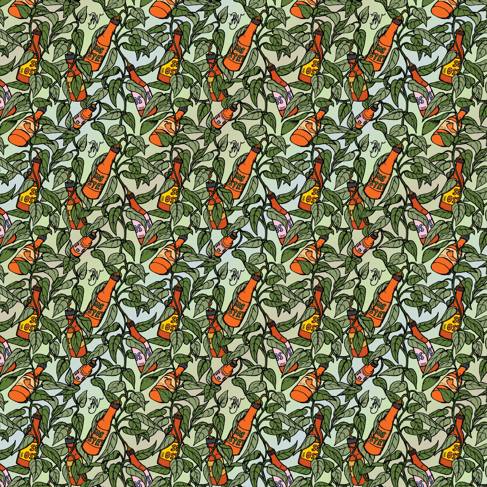 'Hot Sauce Tree' pattern