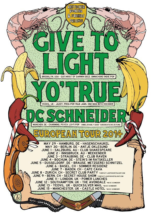 Give To Light tour poster