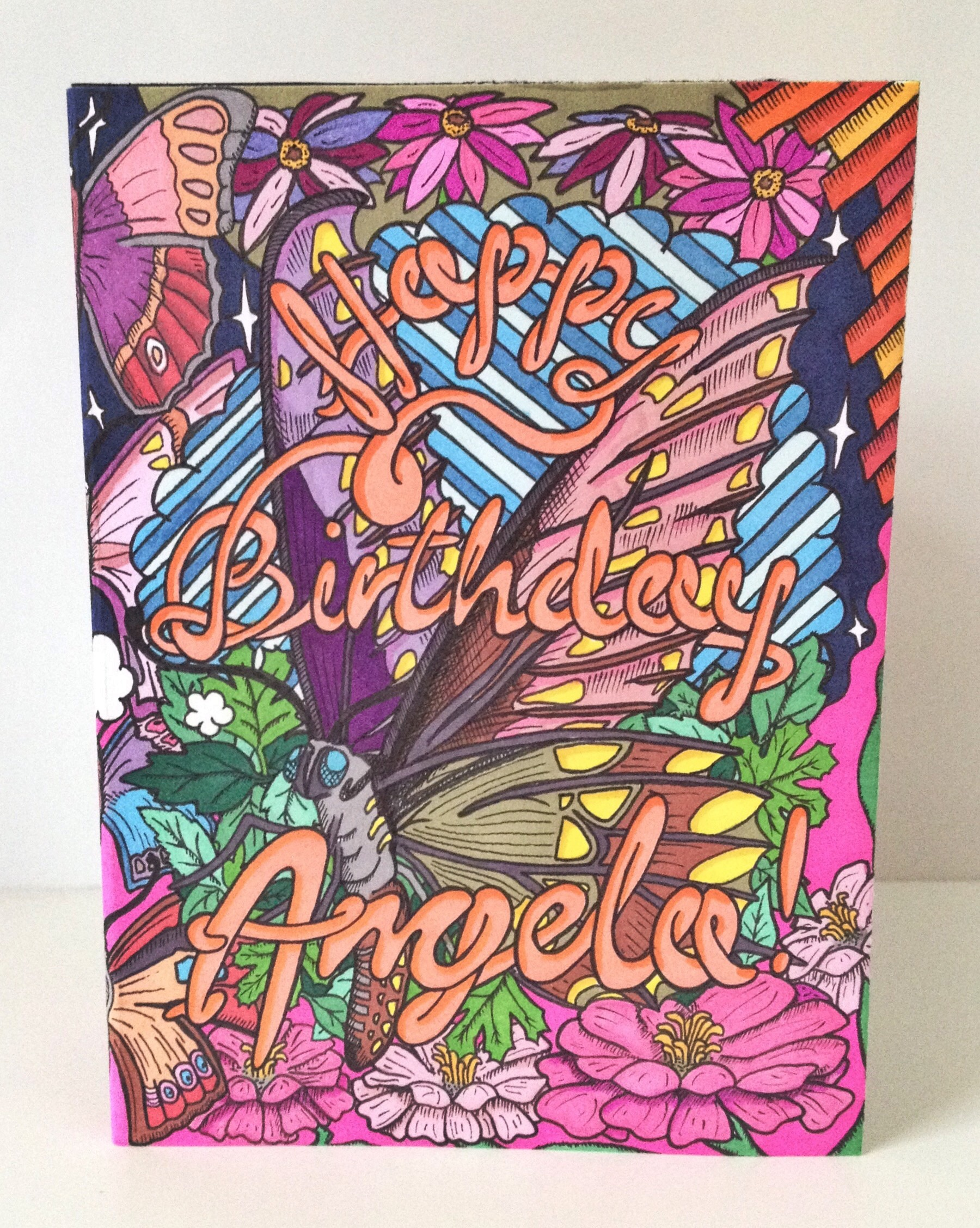 Angela's birthday card (1 of 3)