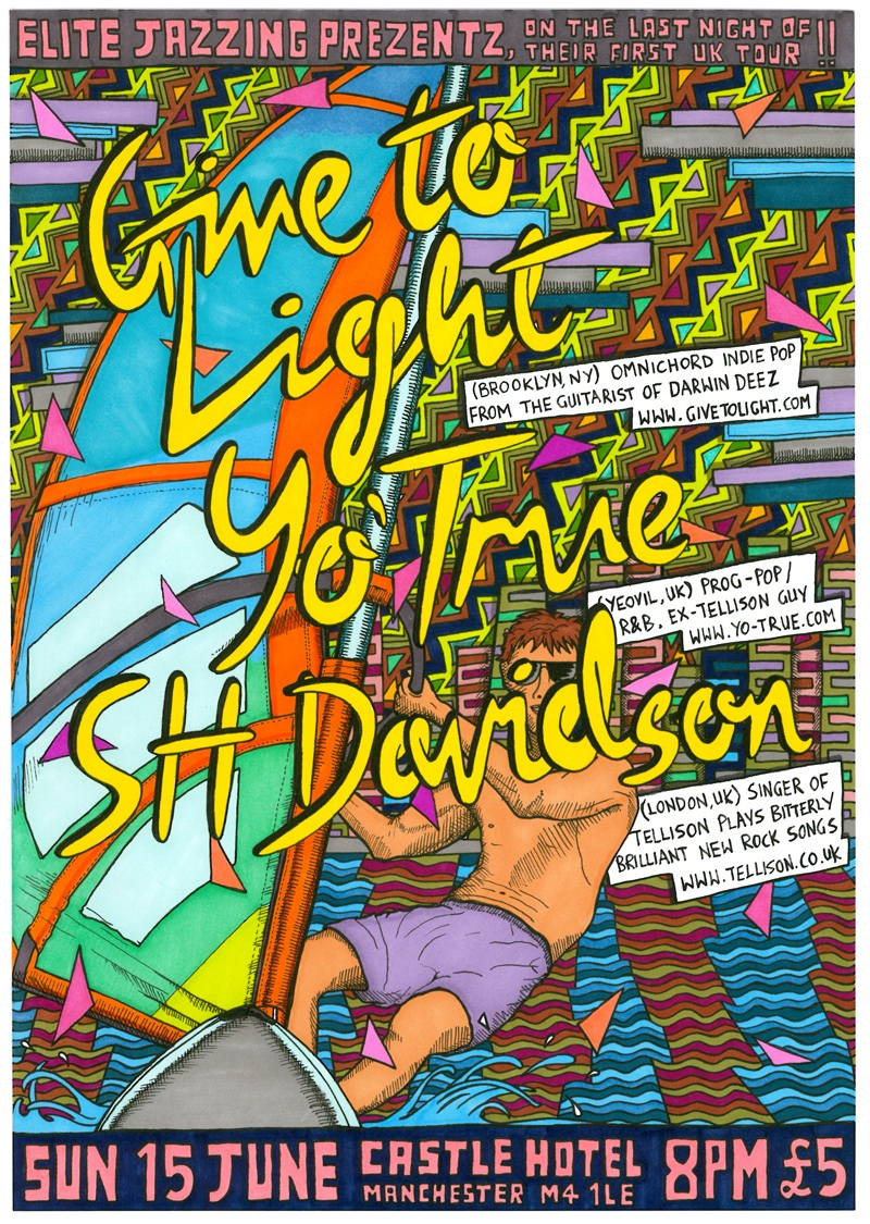 Give To Light, Manchester gig poster