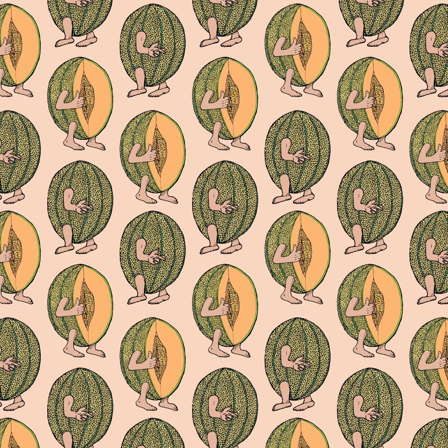 'Cantaloupe' pattern & fabric design