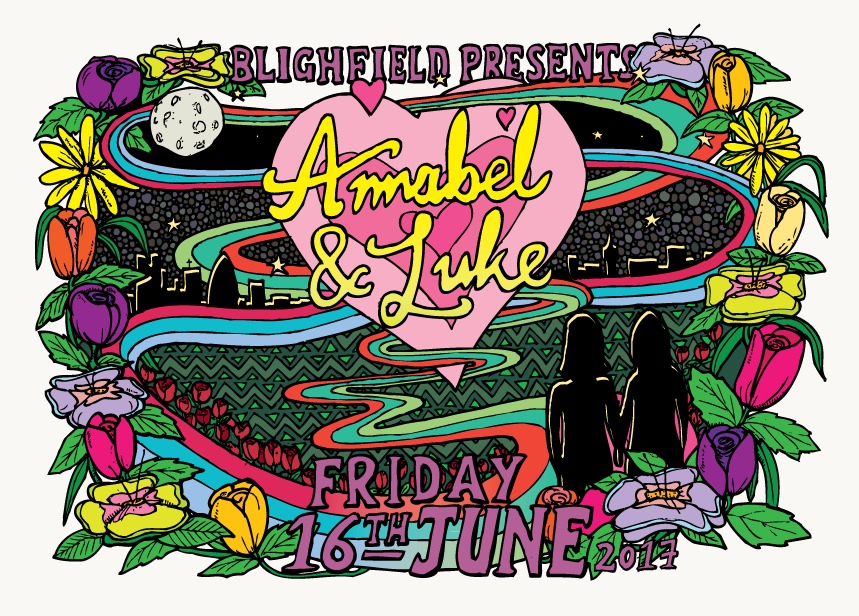 Annabel & Luke wedding invitation