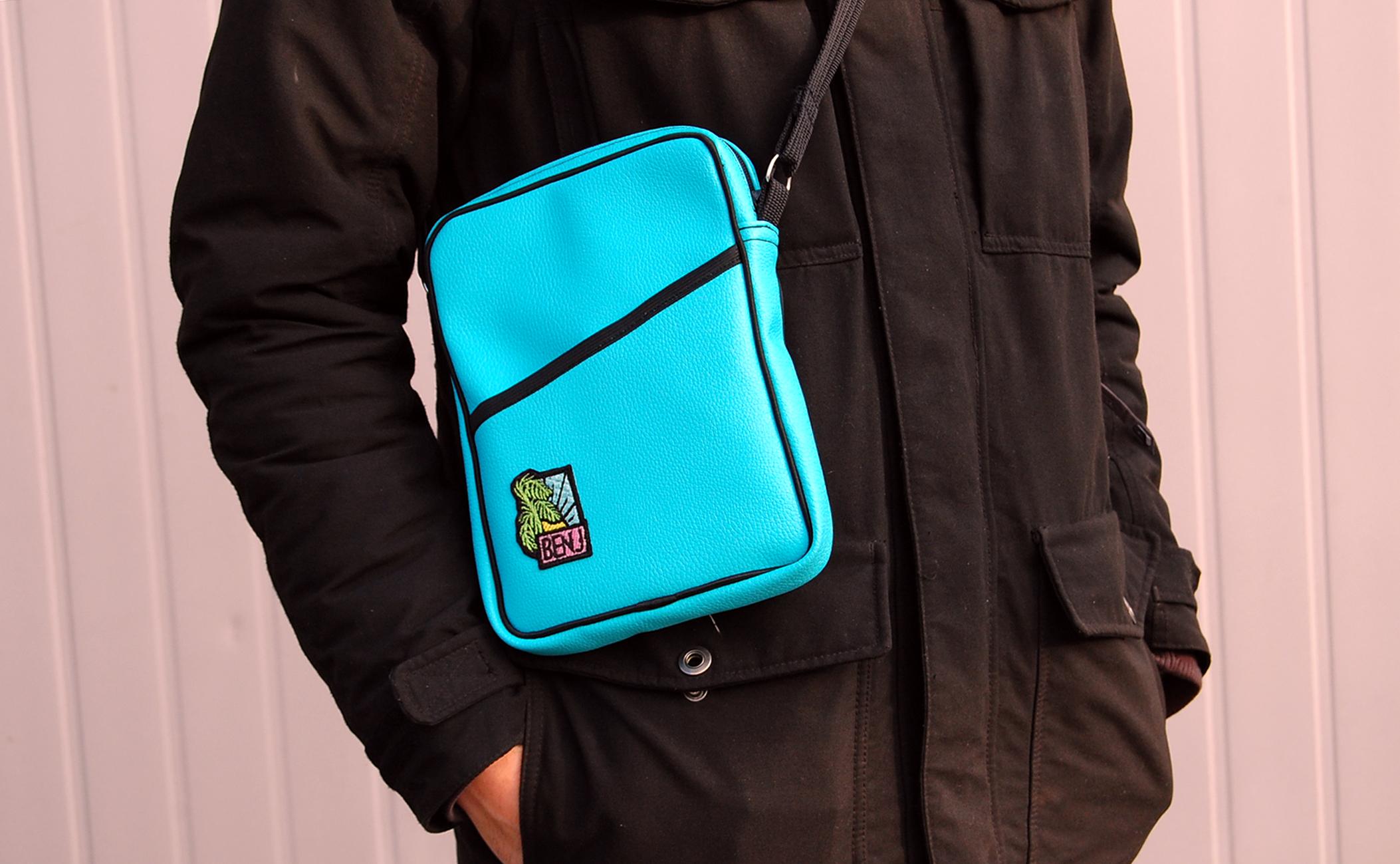 Blue flight bag
