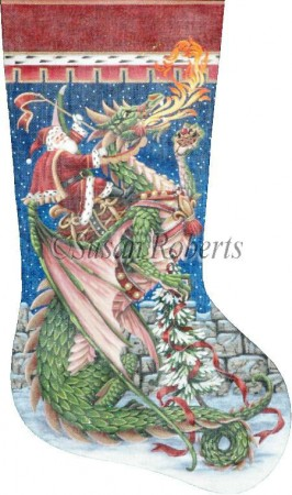 Santa and Dragon Stocking XS407.jpg