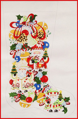 Santa and Jingle Bells Stocking CS 464.jpg