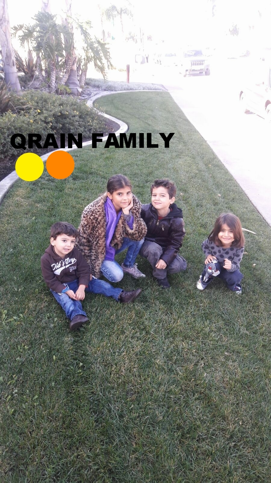 Qrain Family   Originally from Homs. Left Syria in 2012 for Jordan. Dad, mom and five children aged 11, 9, 6, 4, and 3. Husband was a plumber in Syria and is looking for employment here now.