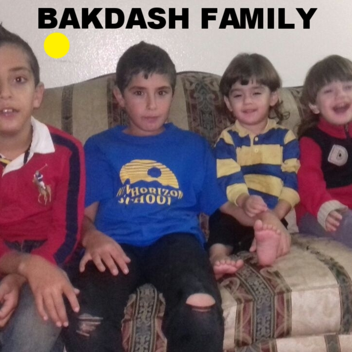 Bakdash Family  Mom, dad and 4 boys! Three year old twins, 8 and 11 year olds.  Originally from Homs, Syria, they arrived to the US from Jordan in August 2016.