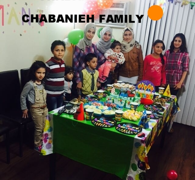 Chabanieh Family   A Syrian mom, dad, and three teenage kids. Originally from Damascus (rural) left for Jordan in March 2013. Stayed in Mafrack city for 1 yr and went to Aman until they came to the US in July 2016.