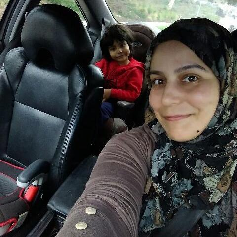 Huda and one of her sons