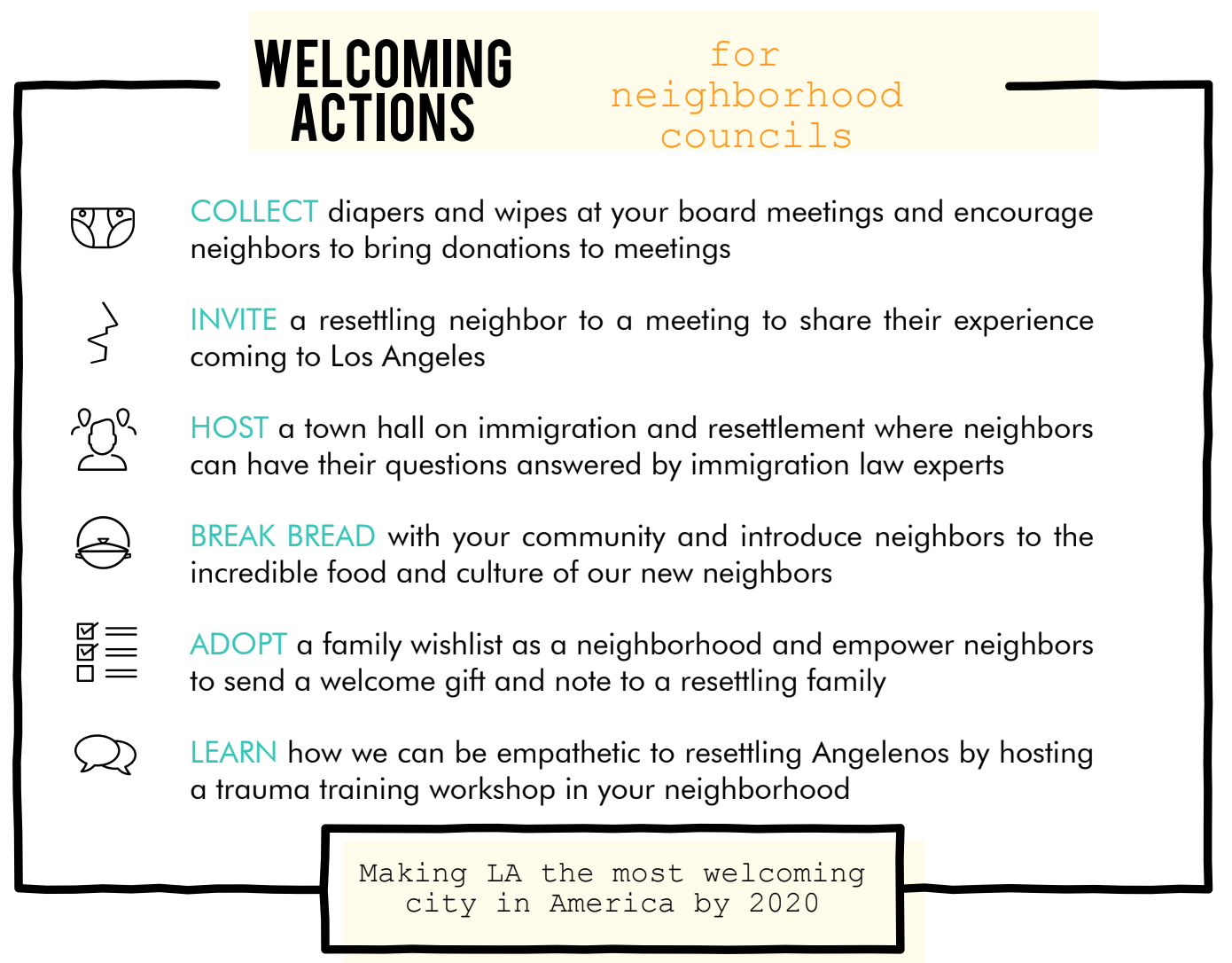 Neighborhood councils select Welcoming Actions to make tangible impact for resettling families in LA