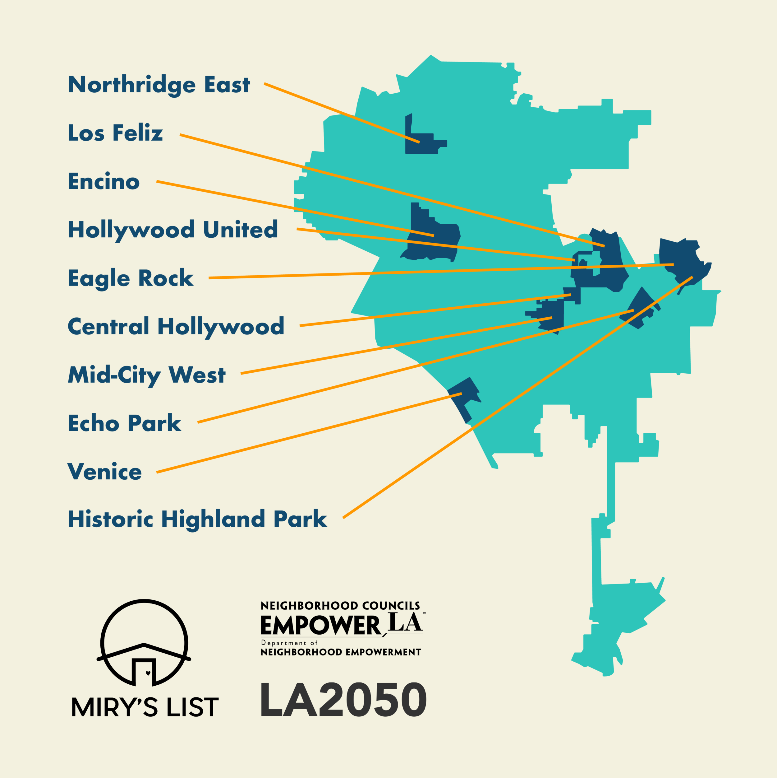 The 10 neighborhood councils for voted yes to pilot Welcome, Neighbor to make LA more welcoming for resettling Angelenos