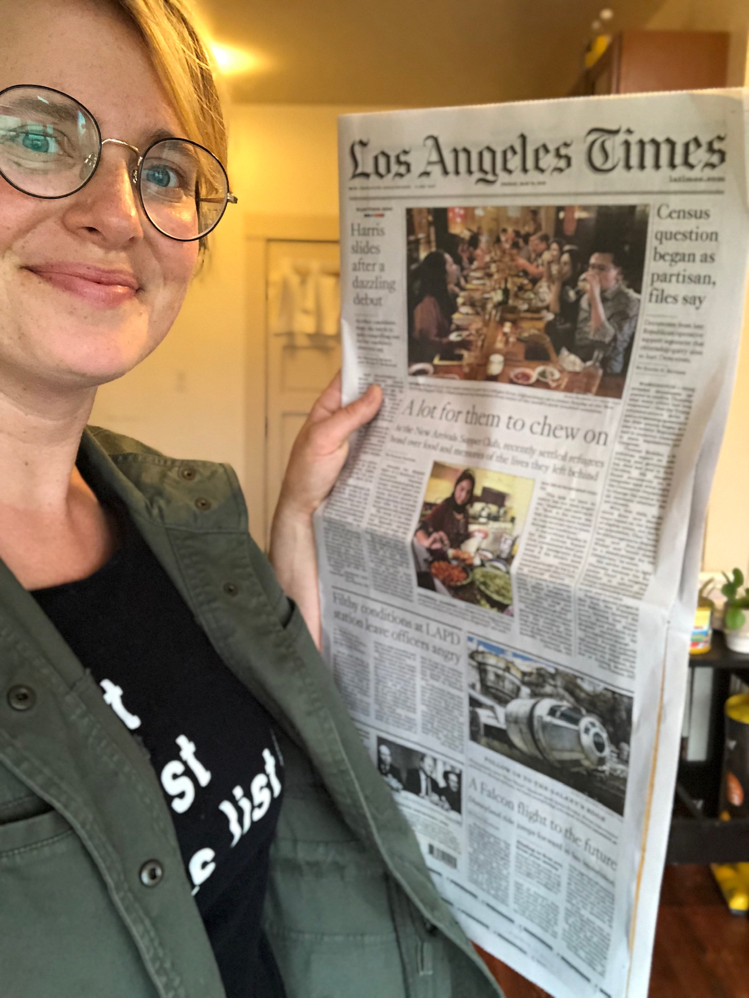 FRONT PAGE NEWS IN THE LA TIMES