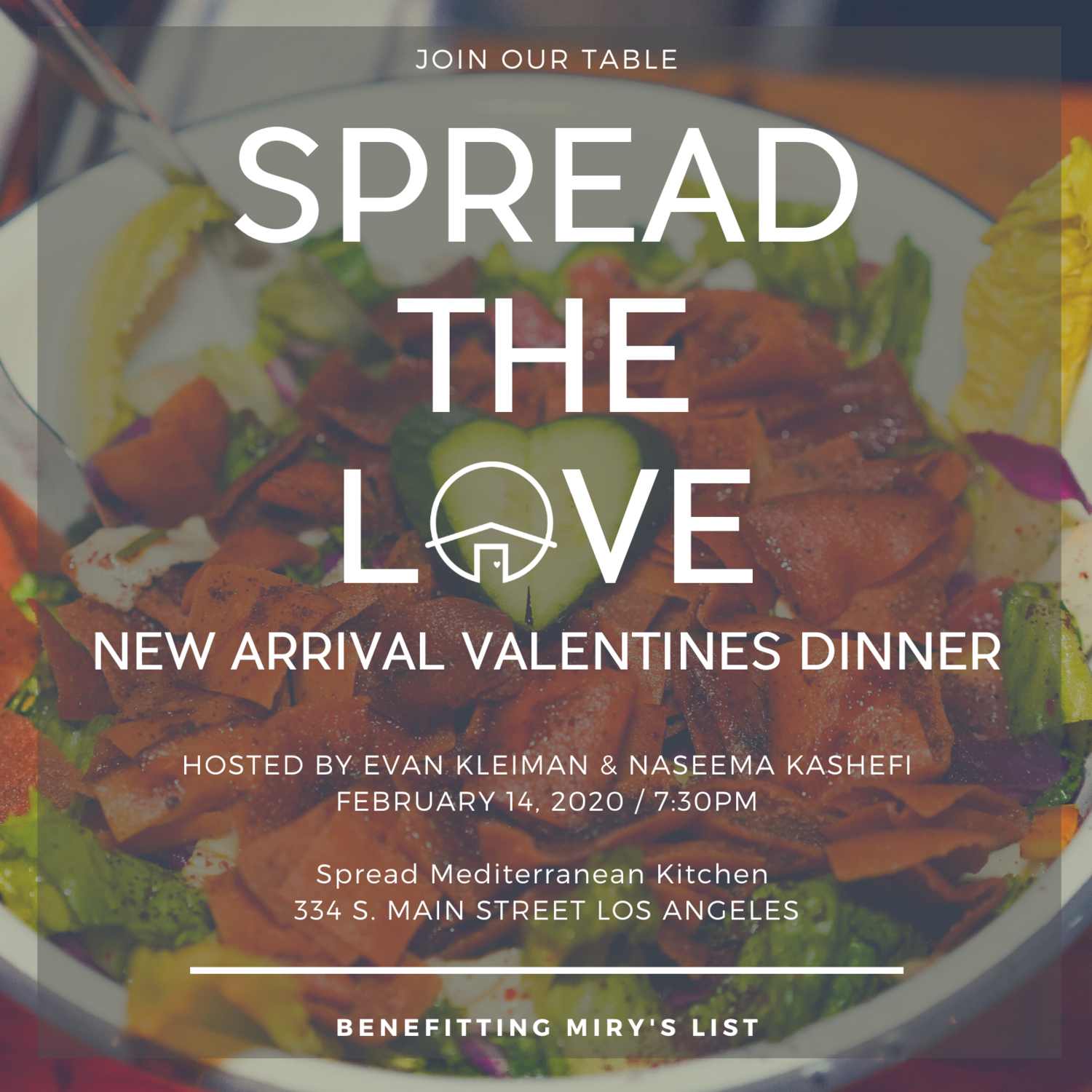 Sold Out Spread The Love New Arrival Valentines Dinner With Miry S List Miry S List