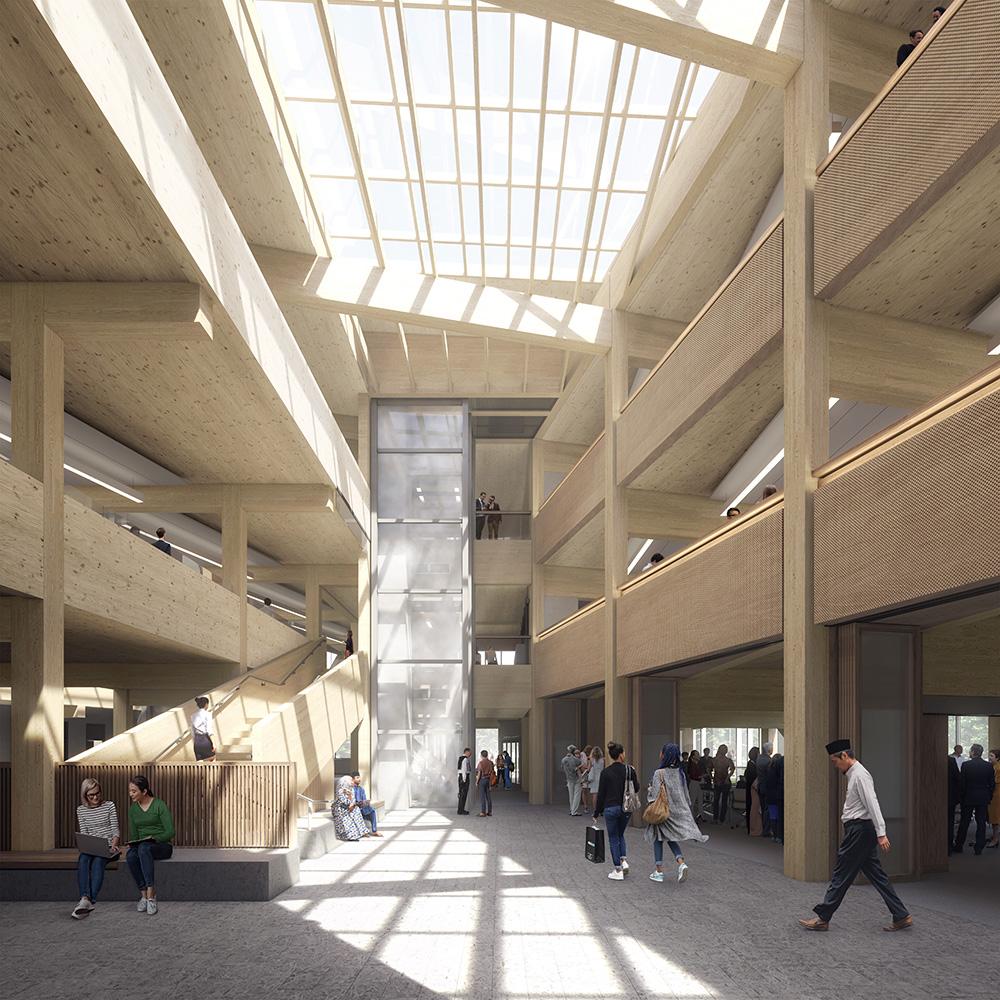 TRCA New Headquarters entrance atrium