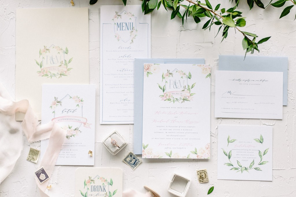 Invitation suite from blush paper co.