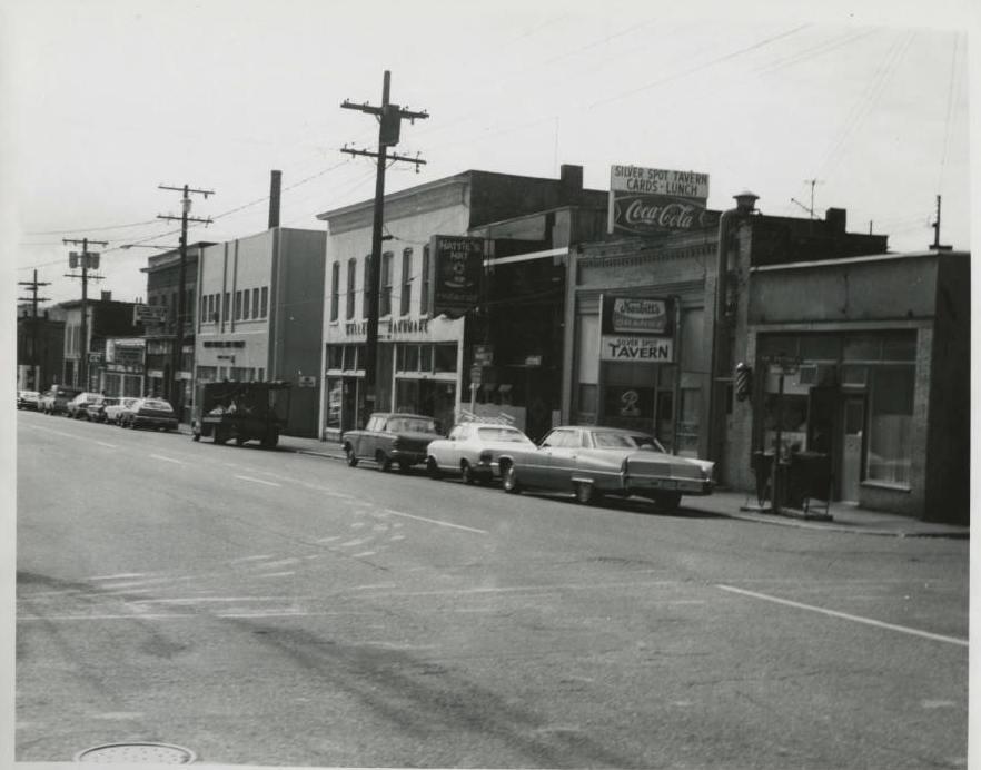 Ballard Avenue circa late 1970s - Fishermen's Building in the background