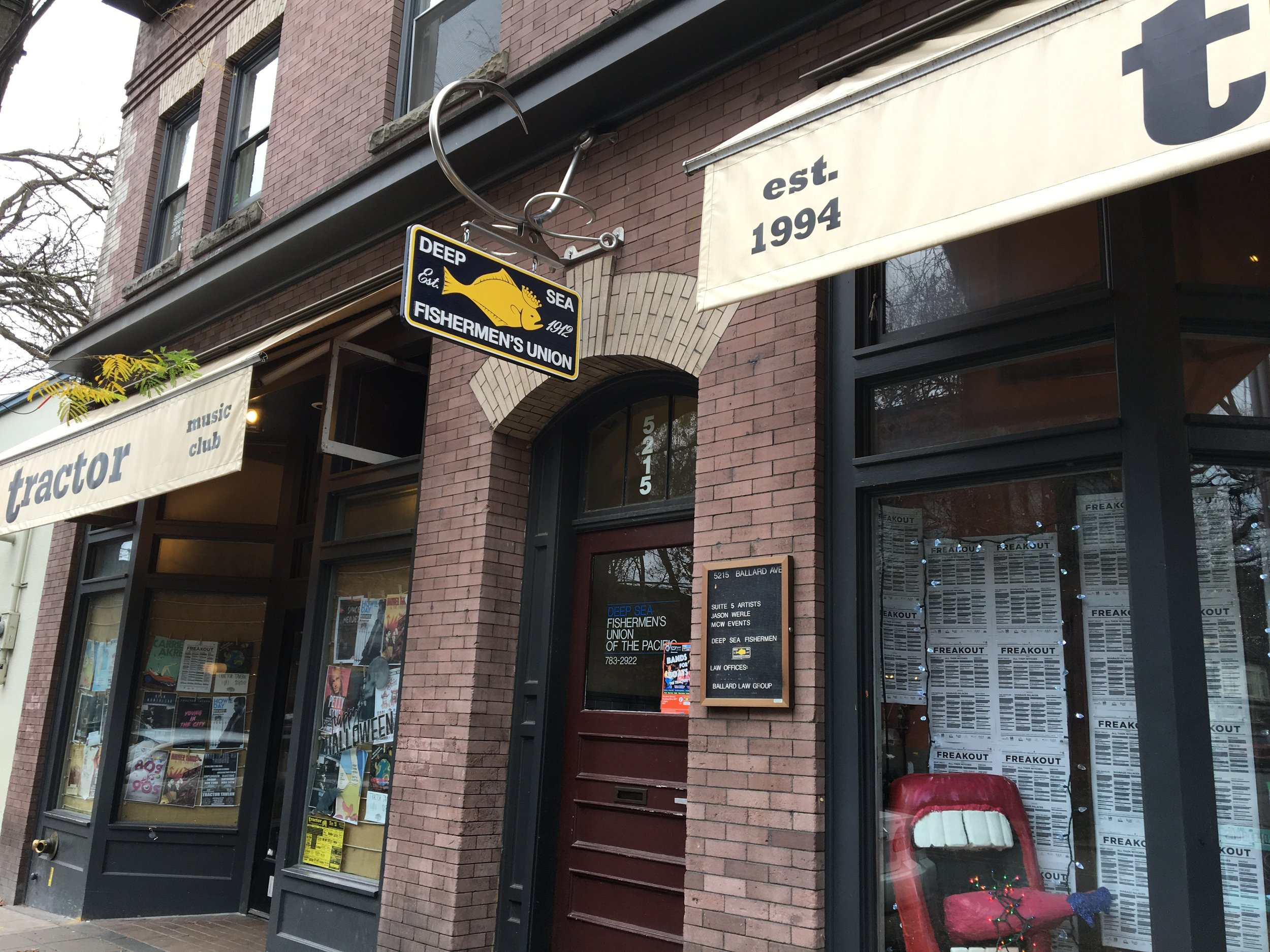 Now in our 70th year as proud owners and stewards of one of Seattle's historic buildings - Ballard's Fishermen's Building, still the headquarters of our nation's oldest and sole remaining fishermen's labor union - the Deep Sea Fishermen's Union of the Pacific