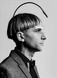 Neil Harbisson , first person to be officially recognized as a cyborg by a government and co-founder of the  Cyborg Foundation