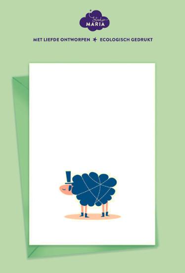 postkaart knuffelschaap